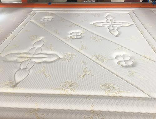 单针机高端花型床垫面料